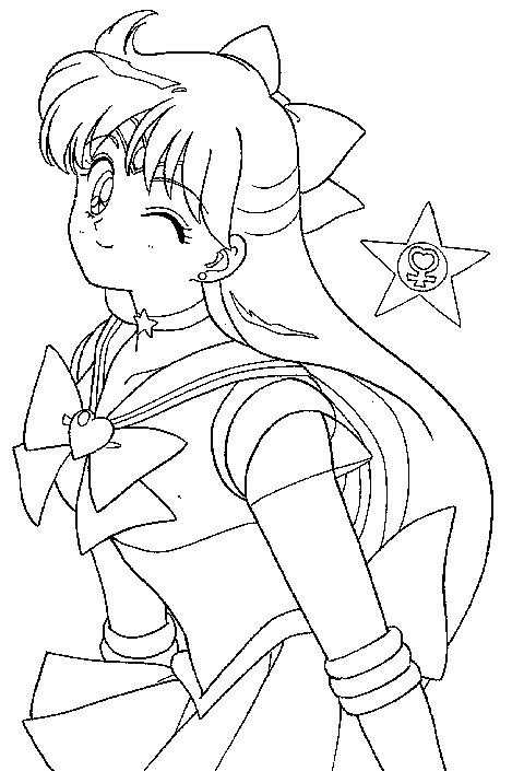 Sailor Venus Coloring Pages