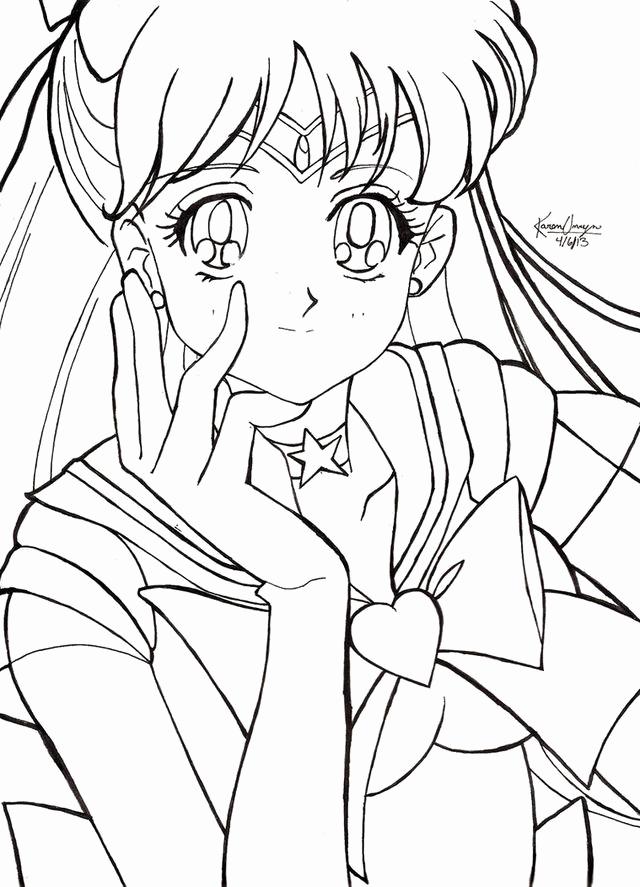 640x887 Sailor Moon Coloring Pages Printable Sailor Moon Sailor Moon