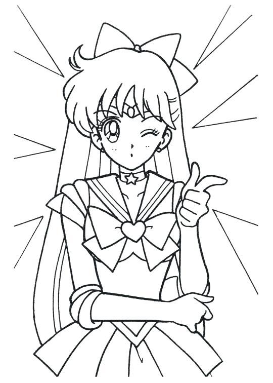 540x756 Sailor Moon Series Coloring Pages Sailor Venus Sailor Moon Sailor