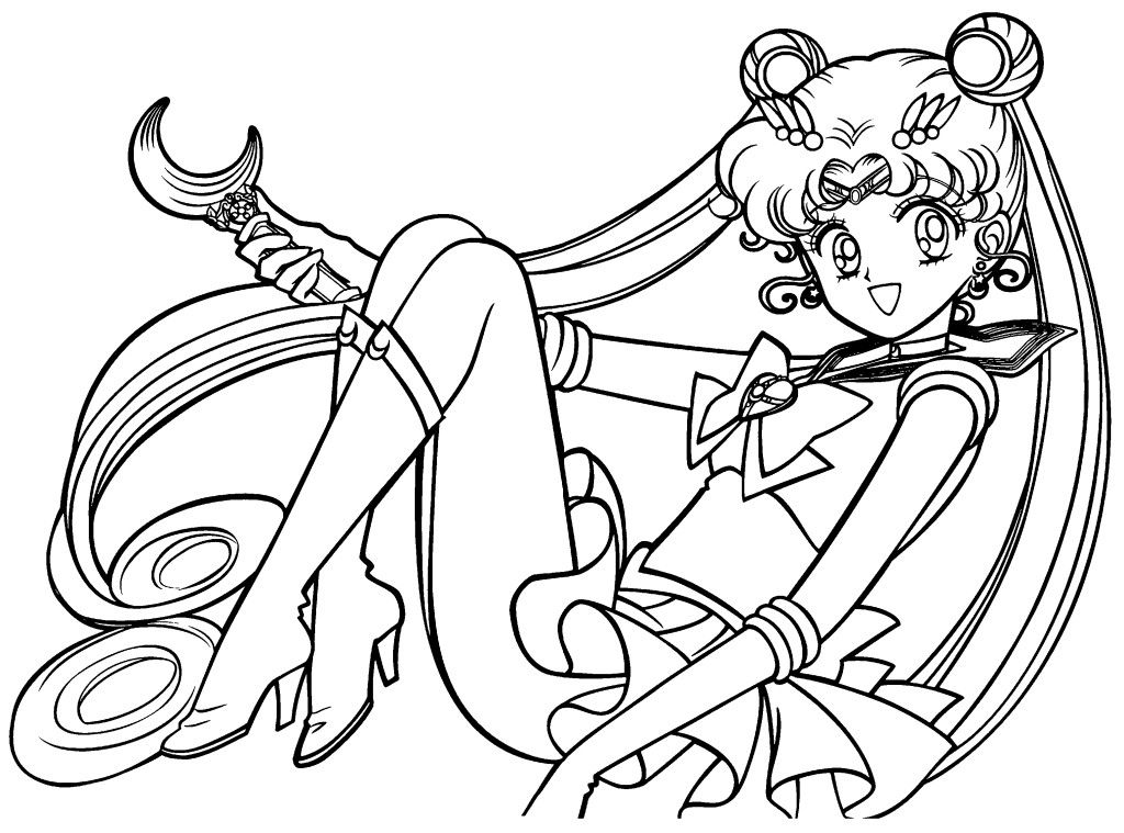1024x759 Free Printable Sailor Moon Coloring Pages For Coloring Book