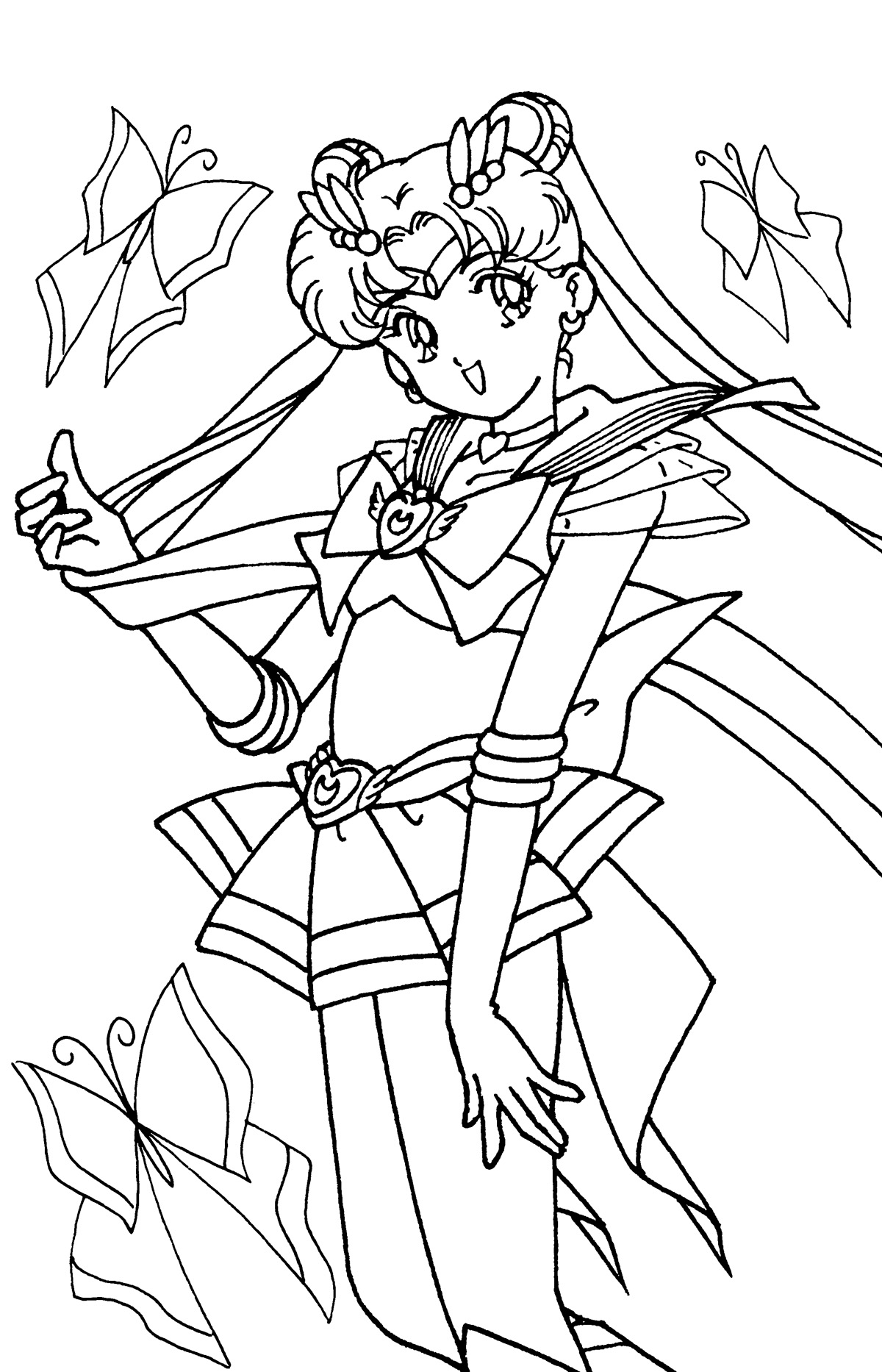 1200x1866 Sailor Moon Coloring Book Pages