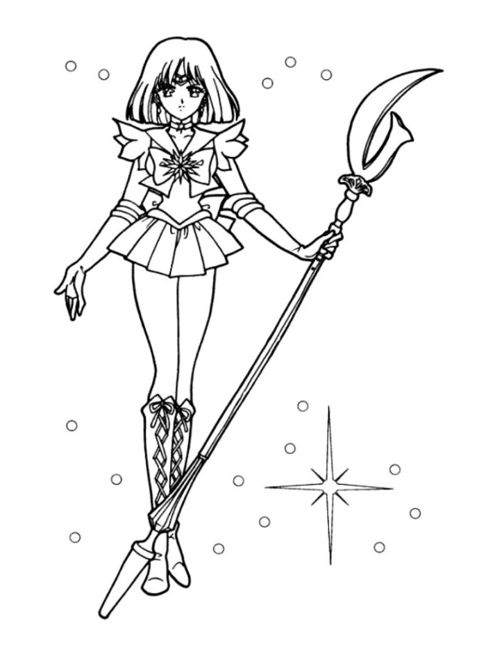 700x942 Sailor Moon Coloring Pages Interesting Sailor Moon Coloring Page