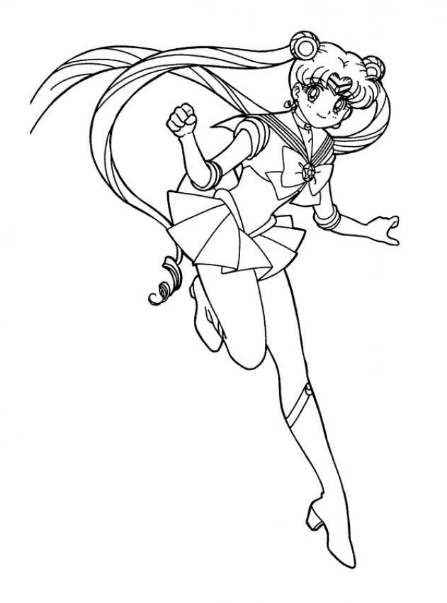 631x850 Sailor Moon Coloring Pages Online Four Sailors Coloring Pages