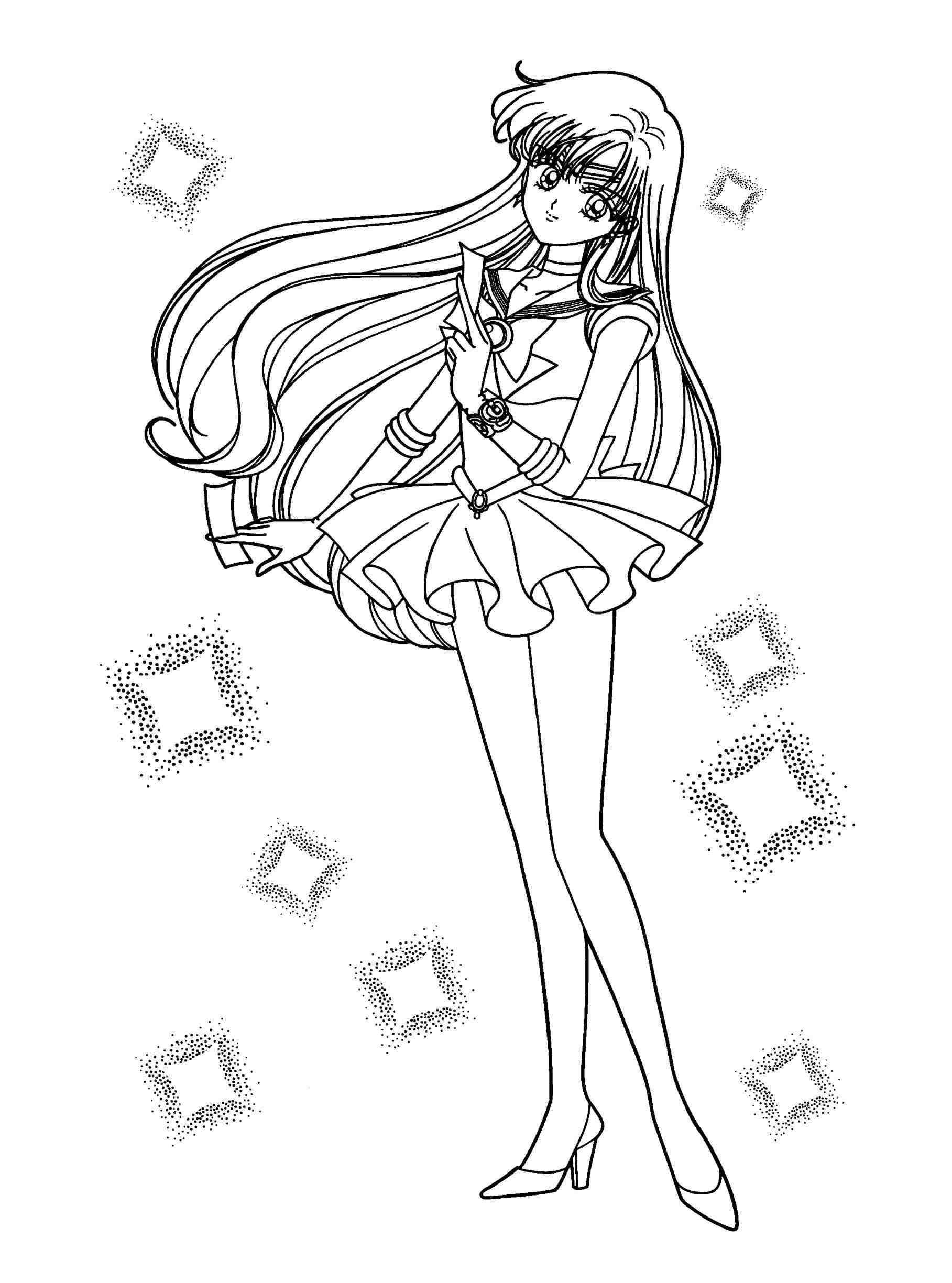 1817x2449 Sailormoon Coloring Pages Wagashiya