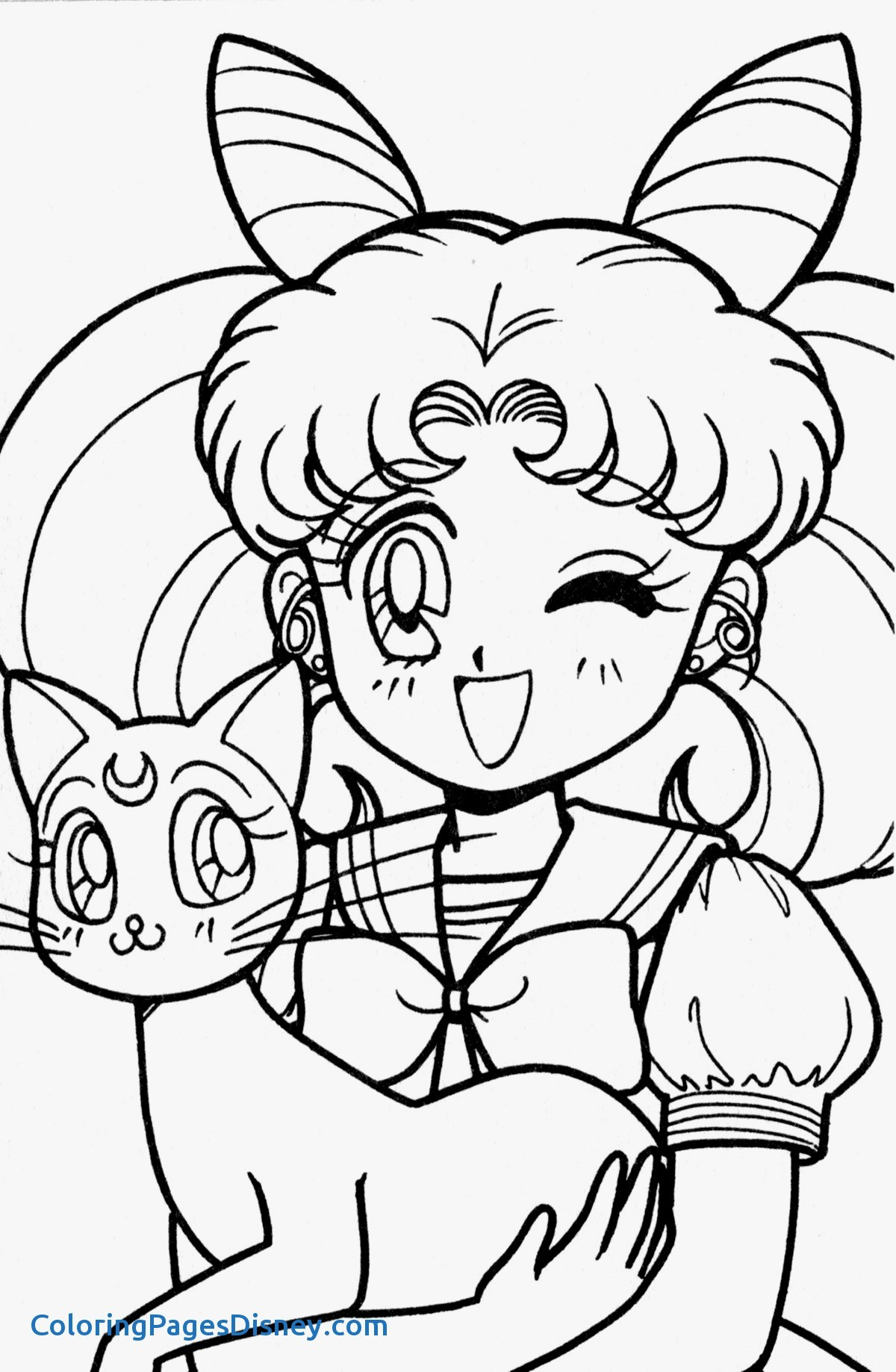 1200x1837 Elegant Sailor Moon Coloring Pages