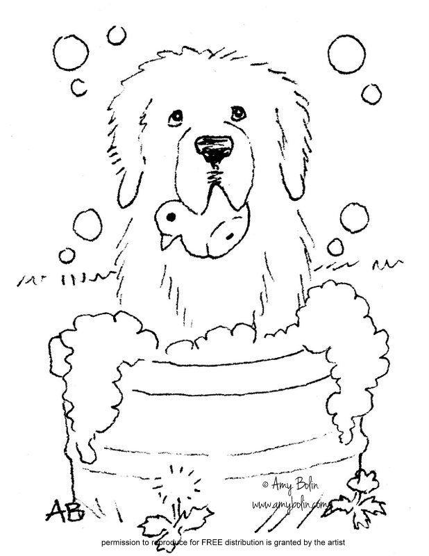 Saint Bernard Coloring Pages
