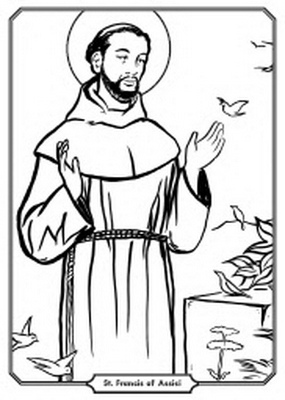 570x799 Saint Francis Of Assisi Coloring Page St Francis Of Assisi