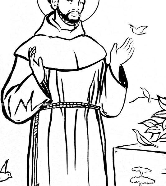 534x600 Saints Coloring Sheets Coloring Page