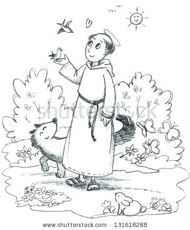 388x470 St Francis Coloring Page This Is St Of Coloring Page Pictures