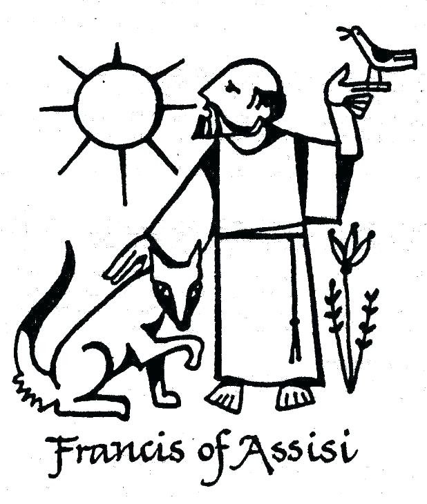 618x730 St Francis Of Assisi Coloring Page Immaculate Heart Coloring Pages