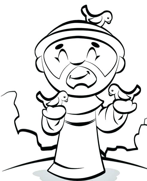 492x605 St Francis Of Assisi Coloring Pages St Of Coloring Pages St