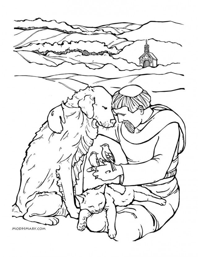 640x828 St Francis Assisi Colouring Pages Page Saint Francis