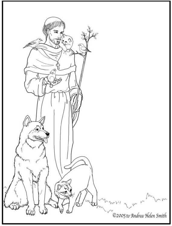 570x750 St Francis Of Assisi Coloring Pages For Catholic Kids Catholic