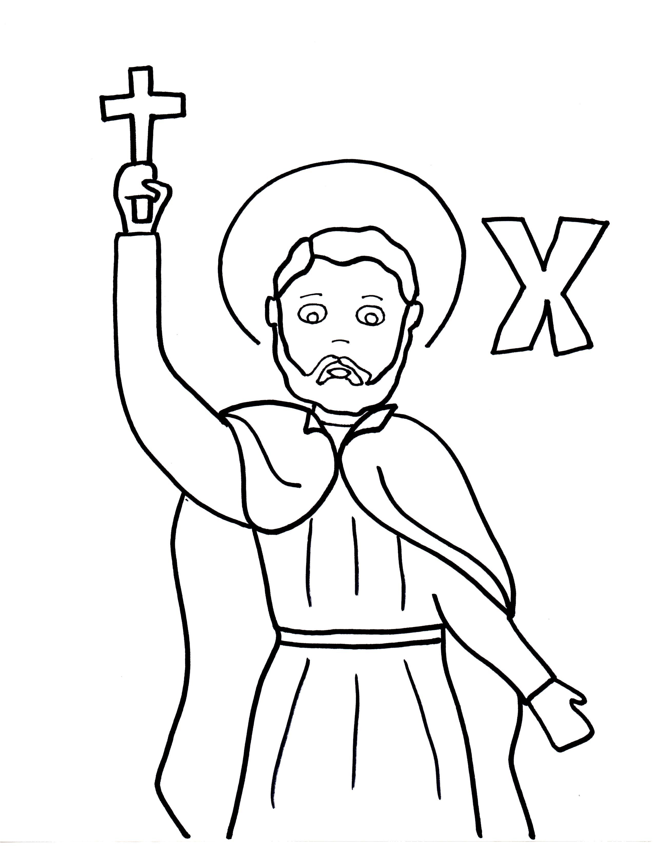 2550x3300 X Is For St Francis Xavier Francis Xavier