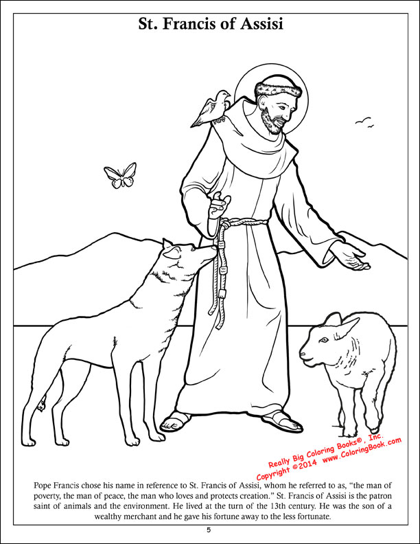 612x792 Coloring Books Pope Francis Coloring Activity Book Coloring