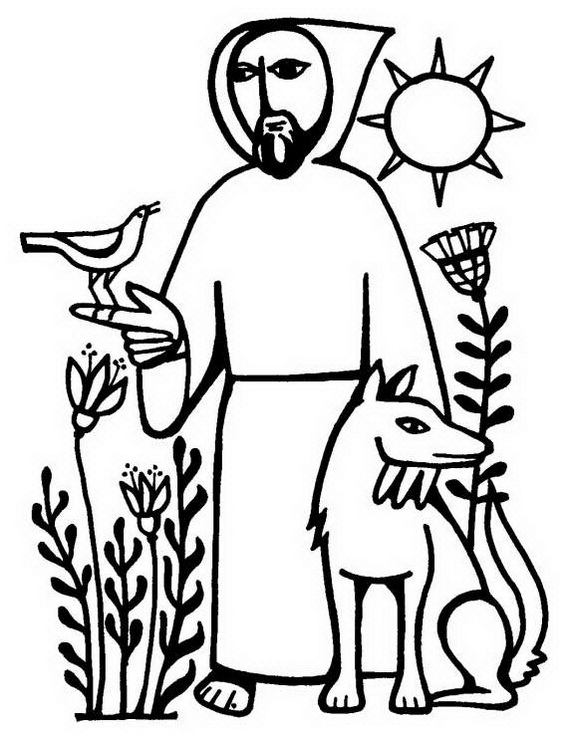 570x733 Latest Saint Francis Of Assisi Coloring Page Gallery Diy