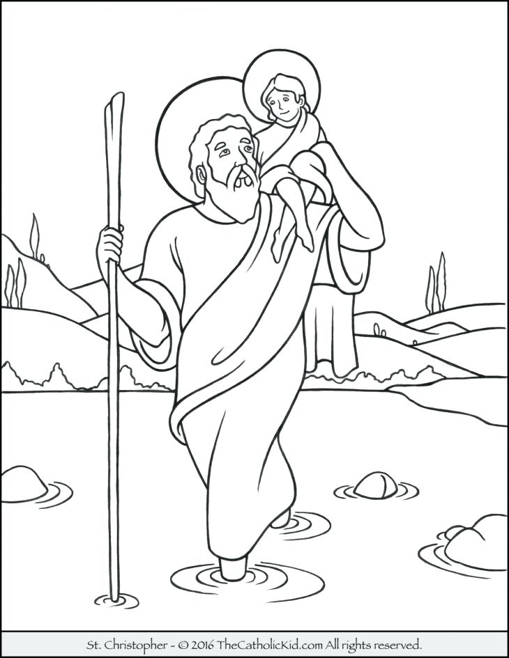 730x945 Saint Coloring Page The Catholic Kid Pages And Games For Children