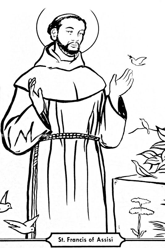 534x800 Saint Francis Of Assisi Coloring Pages Saint Francis Of Assisi