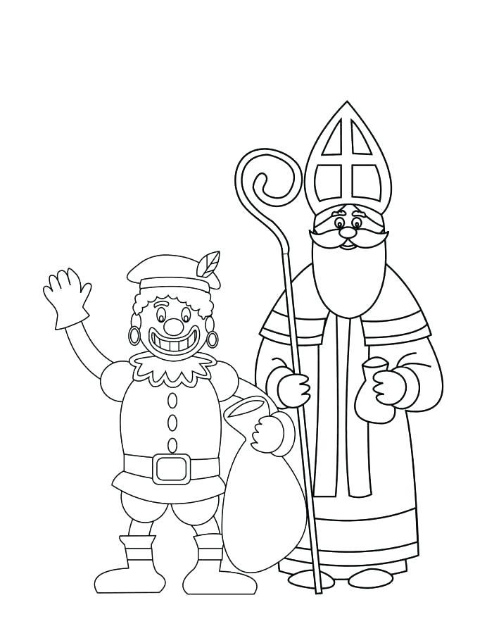 692x896 Saint Nicholas Coloring Pages Saint Coloring Pages Dutch St Sketch