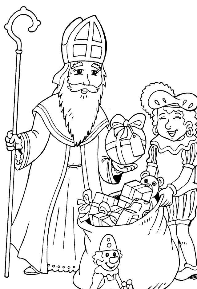 640x940 Saint Nicholas Coloring Page