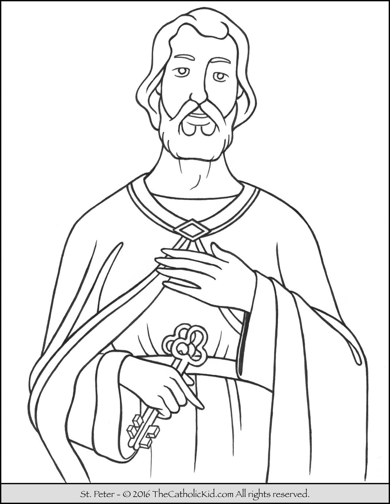 1275x1650 Saint Peter Coloring Page