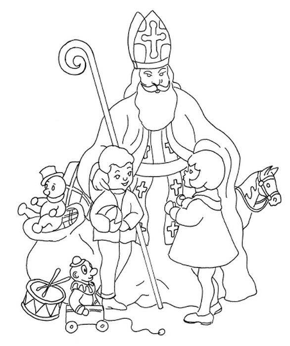 586x700 Coloring Page Saint Nicholas Day