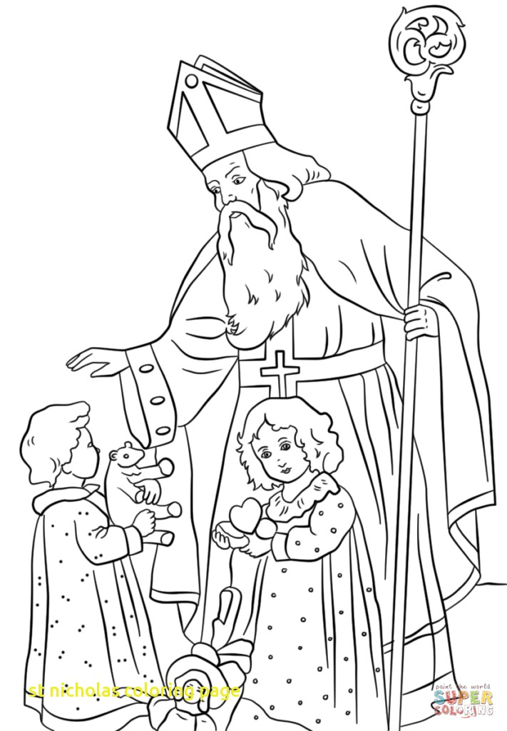 711x1024 St Nicholas Center Coloring With Page