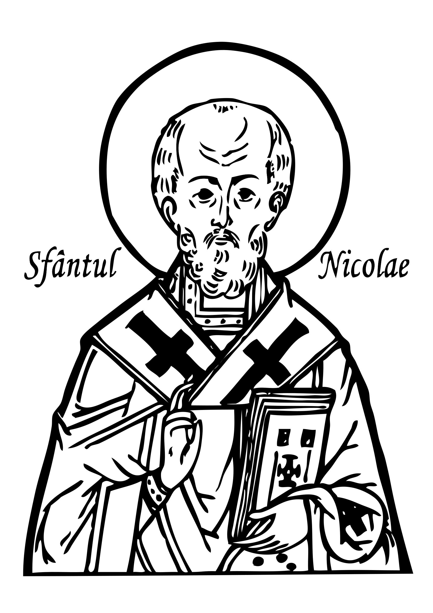 1697x2400 St Nicholas Coloring Page