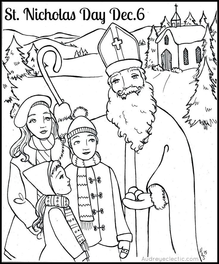 736x886 St Nicholas Coloring Page Saint Nicholas