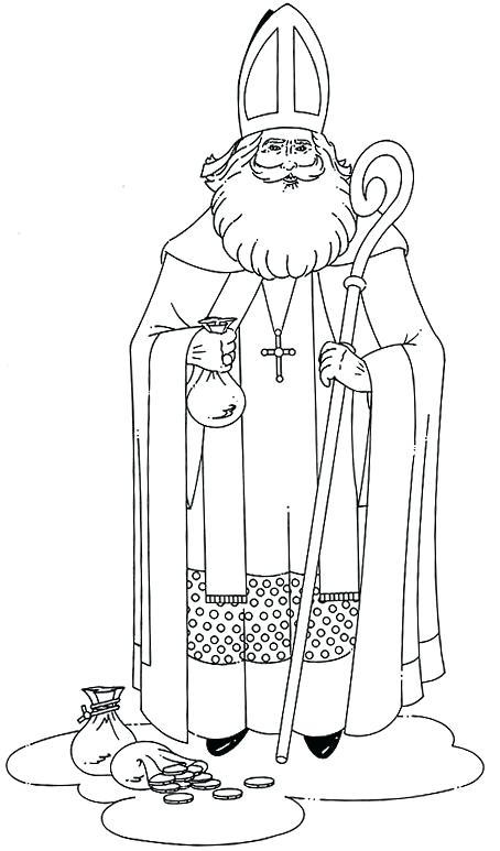 454x773 St Nicholas Coloring Page St Coloring Page Saint Nicholas