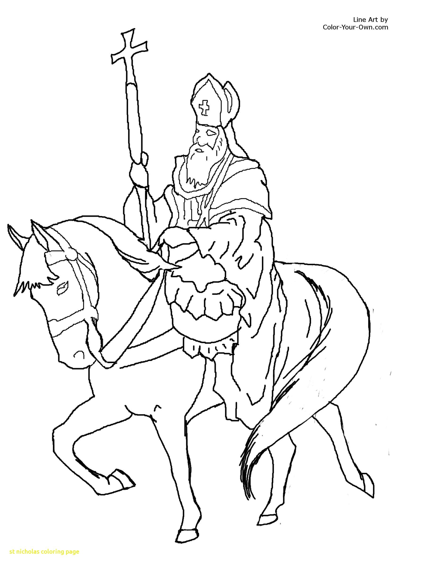 1794x2400 St Nicholas Coloring Page With Saint Nicholas Christmas Coloring