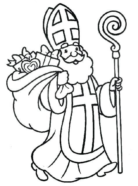 475x640 St Nicholas Coloring Pages Saint Coloring Pages St Nicholas Day