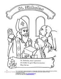 200x259 St Nicholas Center Coloring Activity Sheets St Nicholas