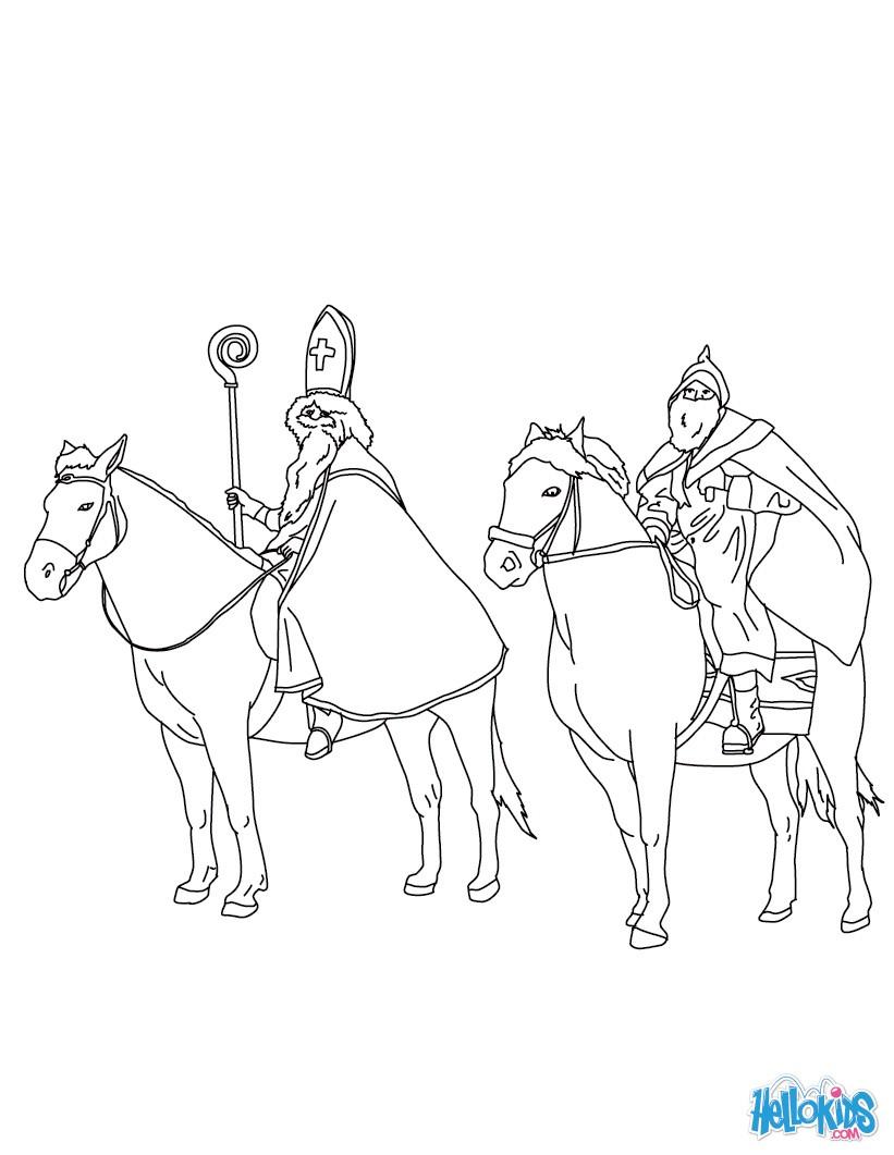 821x1061 Legend Of Saint Nicholas Coloring Pages
