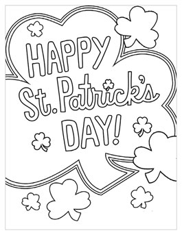 Inventive image in printable st patrick's day coloring pages