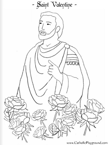 384x505 Saint Valentine Catholic Coloring Page For Children I Feast Day