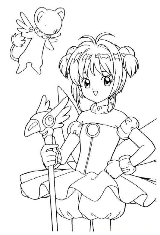 Sakura Coloring Pages