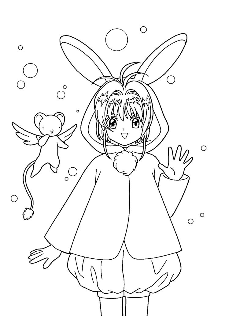 736x1031 Cardcaptor Sakura Coloring Pages, Images About Card