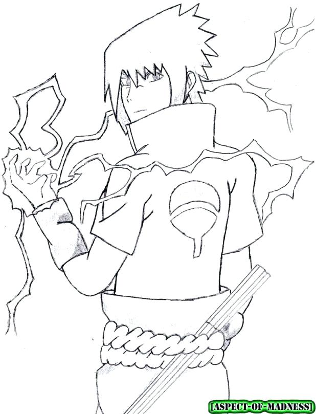 The best free Sasuke coloring page images. Download from ...