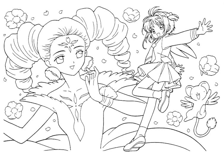 756x540 Card Captor Sakura Coloring Pages Coloring Book
