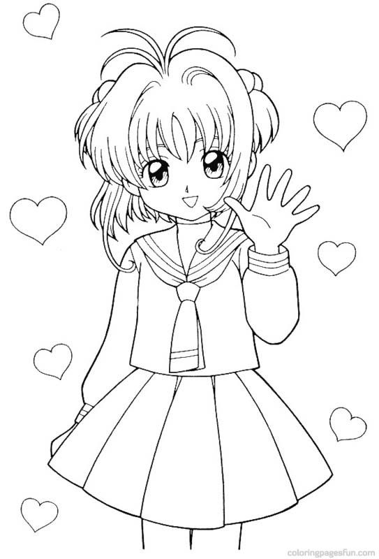 543x800 Cardcaptor Sakura Coloring Page Coloring Pages Of Epicness
