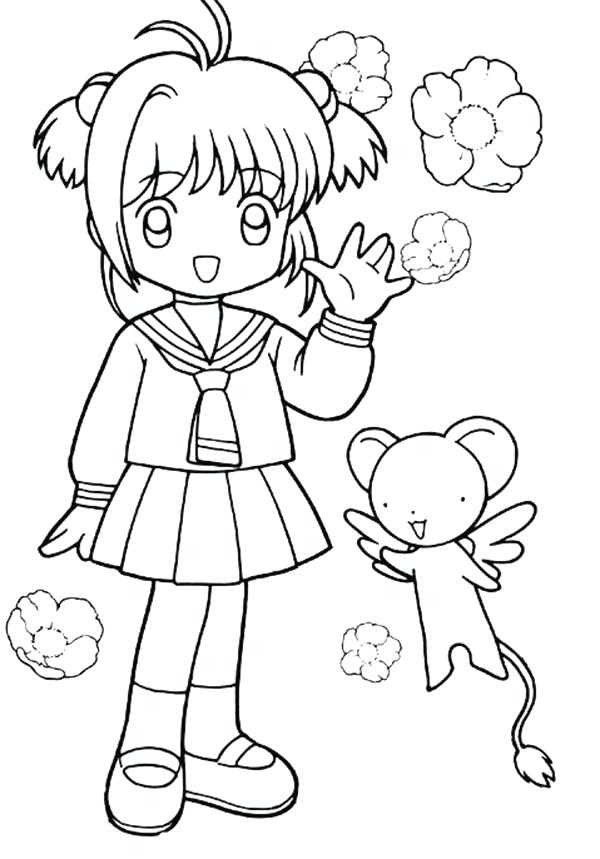 600x859 Cardcaptor Sakura Coloring Pages And From Coloring Page Cardcaptor