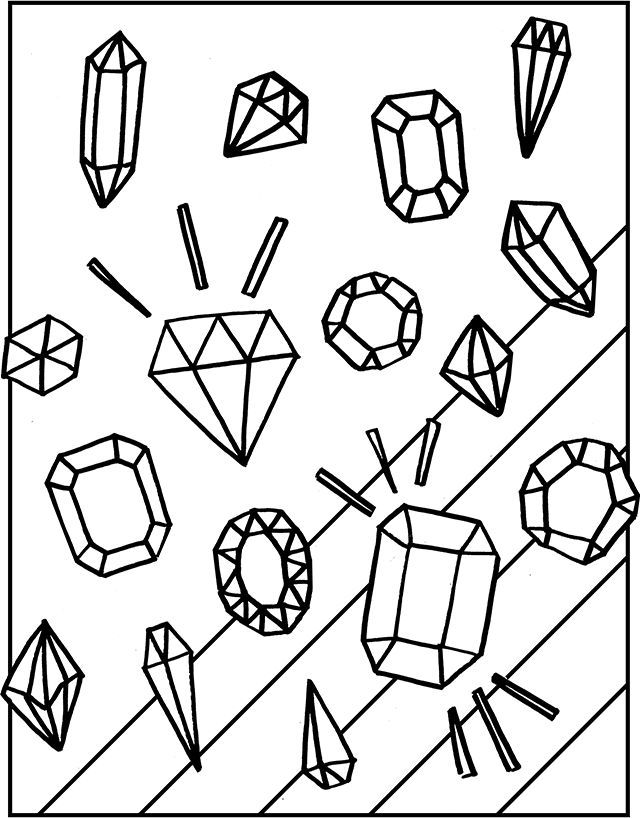 640x818 Free Gemstones Coloring Page Gemstone, Free And Adult Coloring