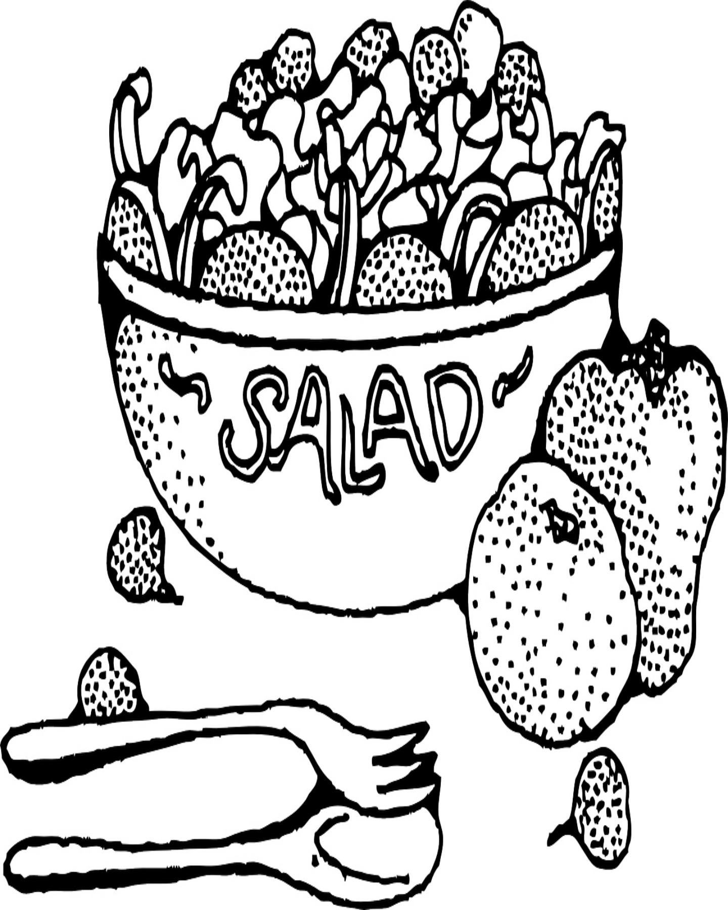 1440x1800 Free Printable Fruit Salad Bowl Coloring Page Kids