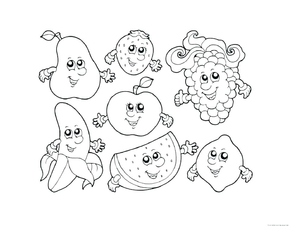 970x750 Fruit Tree Coloring Pages Printable Coloring Fruits And Veggies