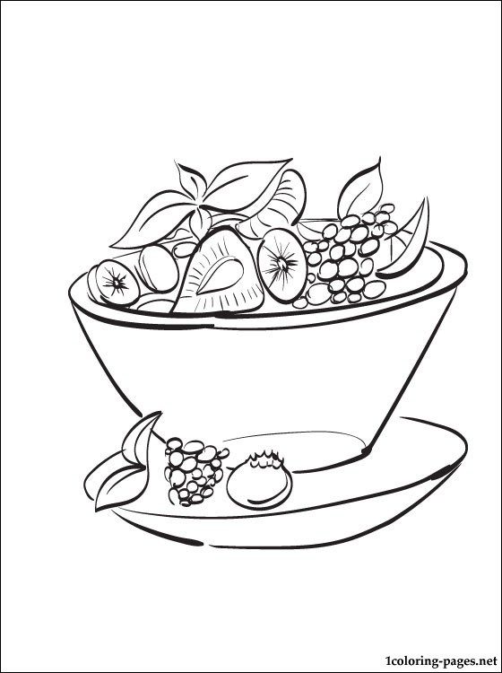 560x750 Fruit Salad Coloring Page Coloring Pages