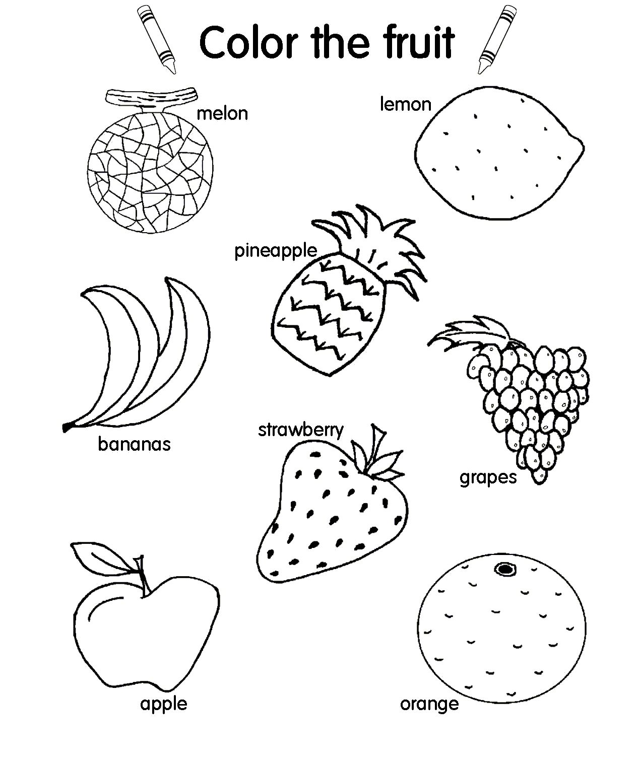 1268x1519 New Fruit Salad Coloring Page Of Coloring Pages
