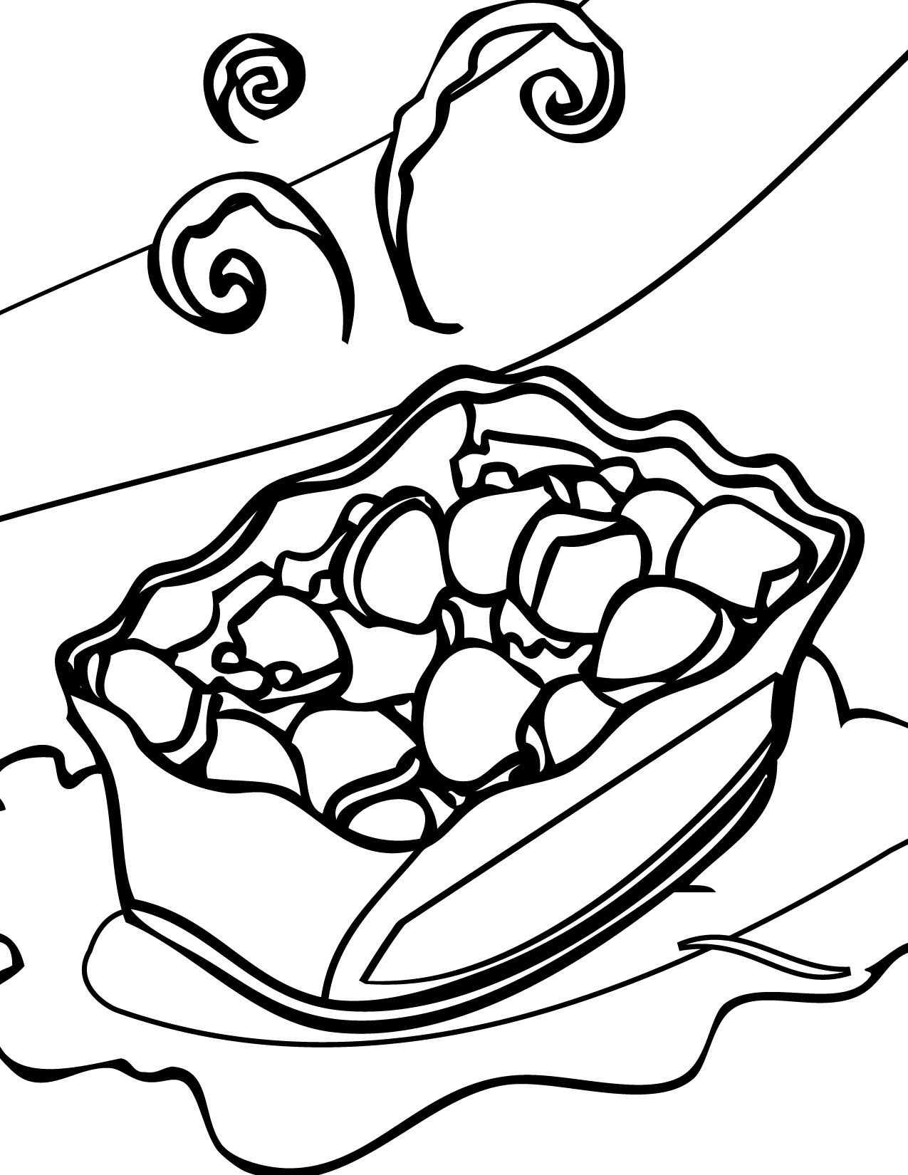 1275x1650 Potato Salad Coloring Page