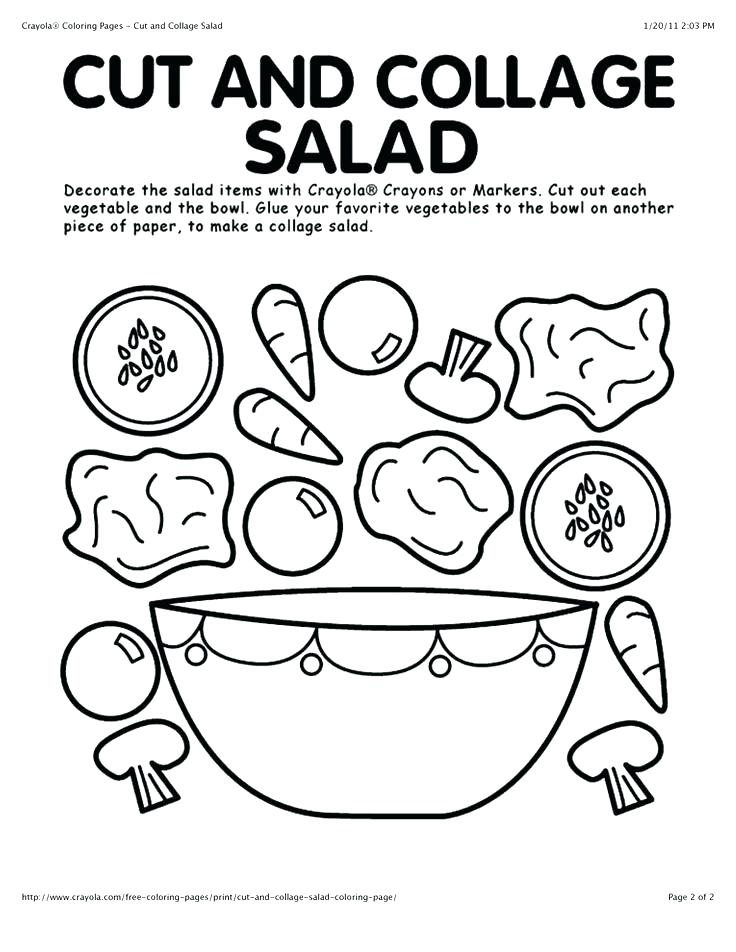 736x952 Collage Coloring Pages Cut And Collage Salad Coloring Page