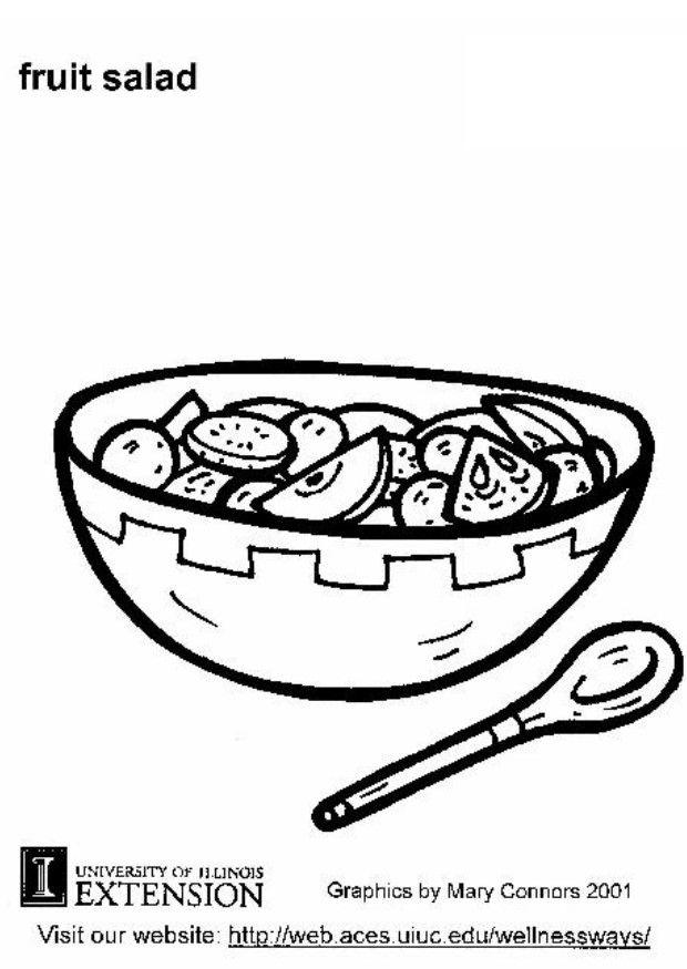 620x875 Coloring Page Fruit Salad